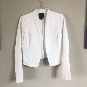 Dynamite Cropped Blazer White Medium